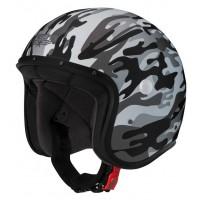 Caberg Freeride Commander Matt White, Grey Open Face Helmet