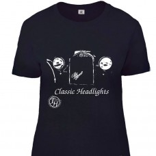 Farkham Hall Classic Headlights Teeshirt in Black for Women