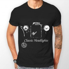 Farkham Hall Classic Headlights Teeshirt in Black for Men