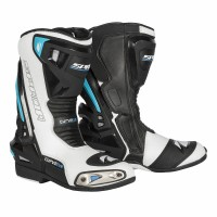 Spada Curve Evo Motorcycle Racing Boots, CE WP Black/White/Blue