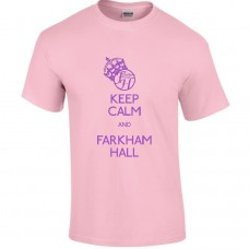 Keep Calm & Farkham Hall Teeshirt, Pink