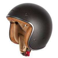 Spada Carbon Dark Star Open Face Helmet (Tan Interior)